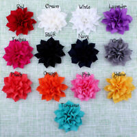 """50pcs 3.6"""" Artificial Double-Layer Lotus Winter Fabric Flowers For Headbands"""