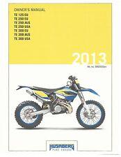 Husaberg owners manual 2013 TE 125 EU, TE 250 EU, TE 250 AUS & TE 250 USA