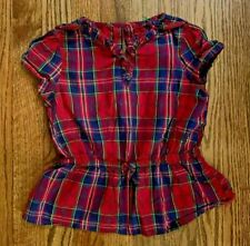 Gymboree Girl's Red Plaid Top-Size 7