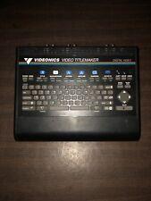 Videonics Digital Video Titlemaker Model
