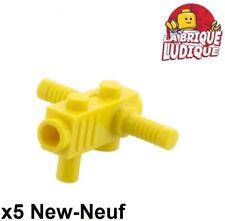 Lego - 5x Minifig utensil tronçonneuse lance chainsaw jaune/yellow 2516 NEUF
