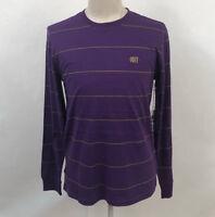 Obey Men's LS Knit T-Shirt Sutton Purple Size M NWT Shepard Fairey