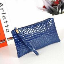 Girls Crocodile Leather Clutch Handbag Bag Coin ID Card Phone Purse Wallet