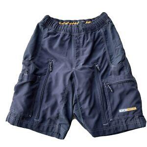 "Oakley software mountain bike cargo cycling padded shorts mens size MD 10"" Nylon"