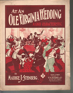At An Ole Virginia Wedding 1899 Large Format Sheet Music