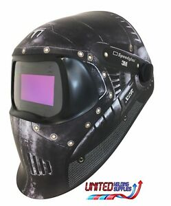 "3M Speedglas 100V Series Welding Helmet ""Trojan Warr"" Variable Shade 3 / 8-12"