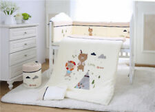 7pcs Baby Crib Bedding set Bumpers Quilt Pillow Cot Sheet Cotton AU002
