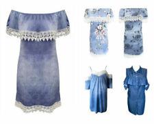 Robes bleu sans manches pour femme