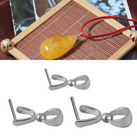 925 Silber Prise Clip DIY Halskette Bail Verschluss Charm Bead Anhänger