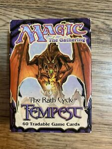magic the gathering Tempest 60 Card Starter Deck. Opened, Unused Inc Story Book.