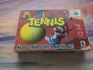 Nintendo 64 N64 - AUTHENTIC EMPTY BOX ONLY - MARIO TENNIS