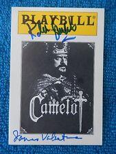 Camelot - Gershwin Theatre Playbill Card with 2 Autographs - Robert Goulet