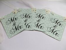 WEDDING GIFT TAGS MR & MR X4 DOVES