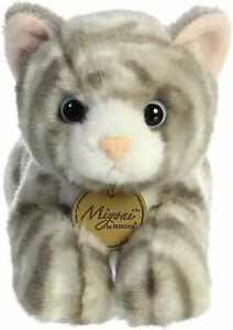 "Miyoni 8"" Aurora Plush Grey Tabby Cat"