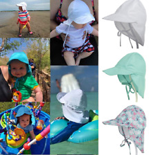 Baby Kids Summer Sun Hat Beach Legionnaire Neck Hats Flap Cap 14 Styles