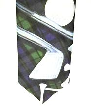 "Ralph Marlin Men's Casual Tie Blue Golf 100% Polyester 3.25"" Width"