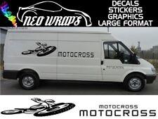 Motocross Mx Racing 1 van Car Bicicleta gráficos Stickers Calcomanías X2