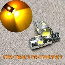 Canbus T10 6 LED Amber Bulb Reverse Backup Light W5W 168 194 2825 12961 W1 A
