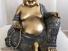 Beautiful Happy Buddhas Statue. Sparkling In CALORADO TOPAZ Swarovski Elements