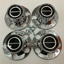 NEW Ford RANGER BRONCO II EXPLORER CHROME CENTER CAP HUB SET OF 4 BLACK CENTER