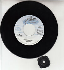 """PERRY COMO It's Impossible & Seattle 7"""" 45 rpm record NEW + juke box title strip"""