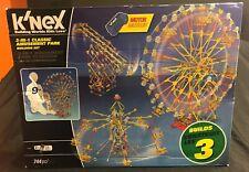 K'Nex Thrill Rides 3-in-1 Classic Amusement Park Building Set 744 Pieces (Read)