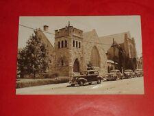 ZS355 Vintage RPPC Presbyterian Church Autos Webster Groves MO Real Photo