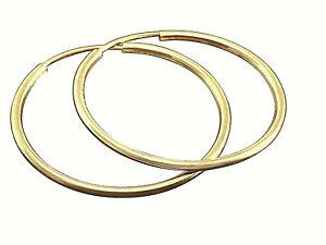 585 Gold Creolen  Hohl Creolen 30 mm x 1,8 mm 1 Paar
