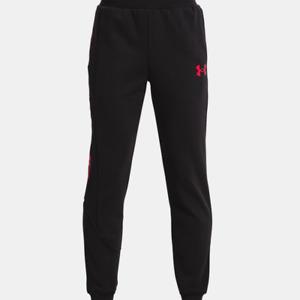 Under Armour Boys' UA ColdGear Baseline Fleece Pants. Black/Red.1356887.Youth XL
