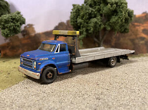 1968 Chevy C60 Rollback Rusty Tow Truck Weathered 1/64 Custom Barn Find Diecast