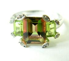 10K Karat gold Ring Topaz   Diamond Stunning , very biutiful  4.63 grams size 7