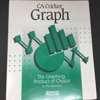 "CA Cricket Graph version 1.3.2 for Apple Macintosh 1991 - US 3.5"" Disks NEW"