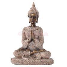 Vintage Hand Carved Sand Stone Hindu Tribal God Meditation Buddha Statue #3