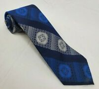 Golden Clasp by Prince Consort Blue/Gray  100% Polyester Neck Tie - DESIGNER