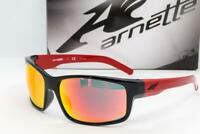 NEW ARNETTE FASTBALL SUNGLASSES Black /Red frame with Red Mirror lens