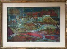 Maurice BOULNOIS-DECHELLES 1913-2011.Paysage animé.1958.HST.SBD.37x54.