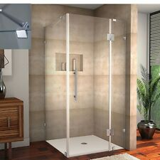 Aston Avalux 36Wx32 Corner Frameless Shower Enclosure Chrome SEN987-CH-3632-10