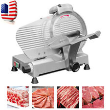 New ListingPortable 10' Blade Semi-automatic Meat Slicer Cutting Meat Machine Us