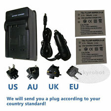 2X Battery+charger for PENTAX D-Li8 D-L18 Fuji NP-40 Kodak KLIC-7005 Sanyo NP-40