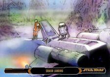 Star Wars ESB Illustrated Gold Parallel Card, #54 Crash Landing, 06/10