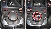 Audi S line 3D-Aufkleber für MMI Tasten A3 S3 und andere