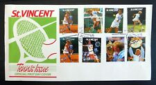 St VINCENT Tennis (8) on Official FDC BQ5