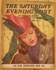 SATURDAY EVENING POST OCTOBER 11 1941 ROVER BOYS RED BLAIK COCKFIGHTING GIBBS