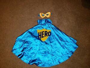 Gymboree Costume Superhero Boy Blue Cape size XS/S 4-6 - Halloween Dress Up