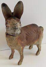 1906 Dated & Signed Antique German Paper Mache Rabbit Candy Container