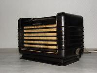 tsf valve art deco radio philips bf 281 u vintage old tube lamp antique bakelite