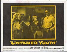 UNTAMED YOUTH lobby card MAMIE VAN DOREN/JOHN RUSSELL original 1957 11x14 poster
