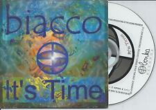 BIACCO - It's time CD SINGLE 2TR Euro House Trance 2000 BELGIUM CARDSLEEVE