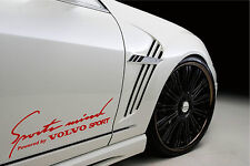 Sports Mind Powered by VOLVO Sport Racing Decal sticker emblem logo RED Pair
