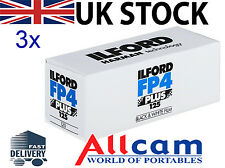Paquete De 3: 120 Profesional ILFORD FP4-125 (paquete de 3, tamaño 120, ISO 125)